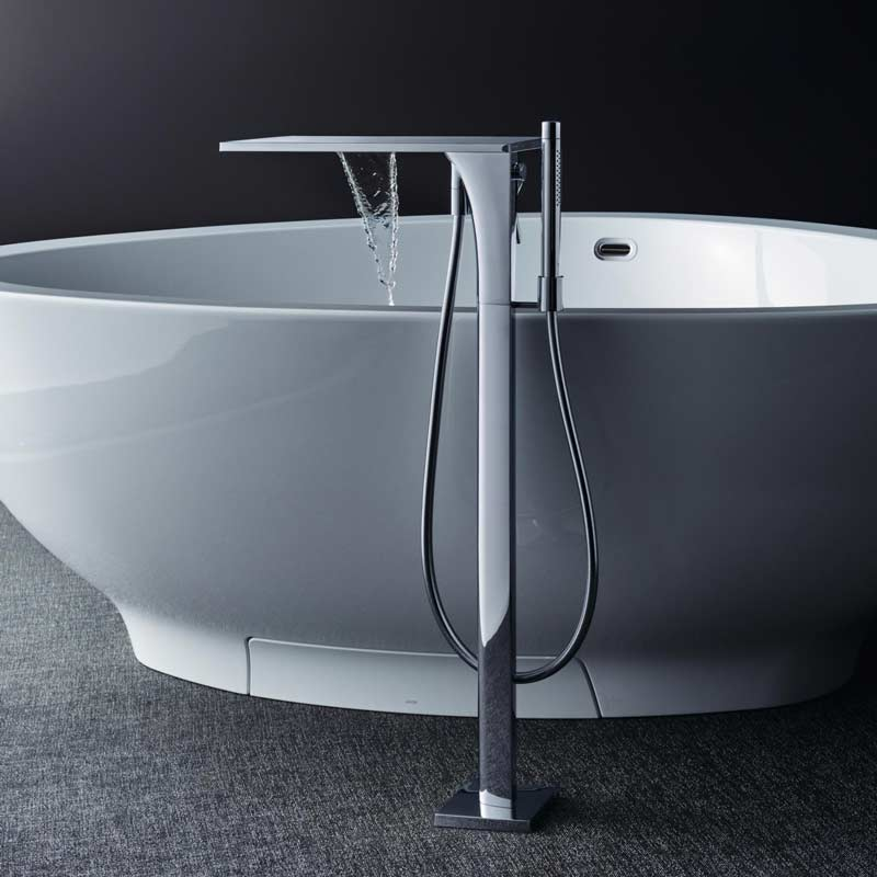 Axor Massaud floor standing bathtub mixer