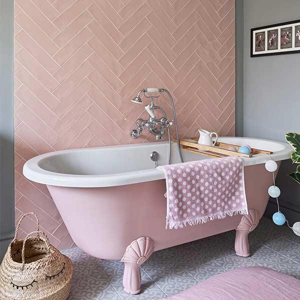 Capietra Carter Rose 2 Bathroom Tiles