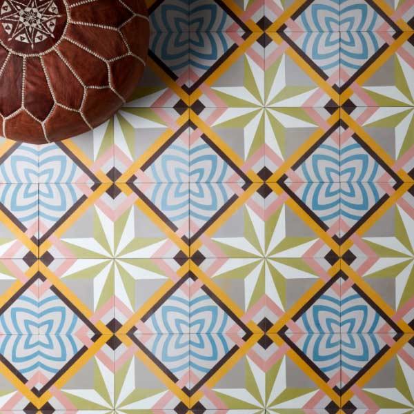 Capietra Havana Encaustic Bathroom Floor Tiles