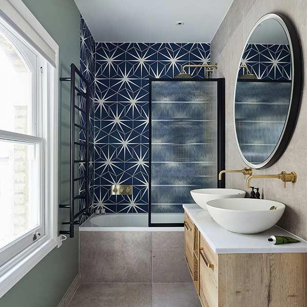 Capietra Lily Pad Admiral 1 Bathroom Tiles